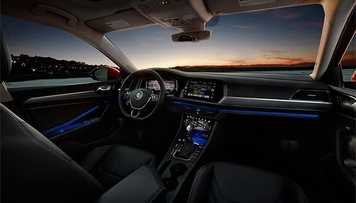 Volkswagen Jetta Interior Dashboard at Night