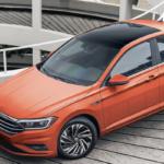 Orange Volkswagen Jetta