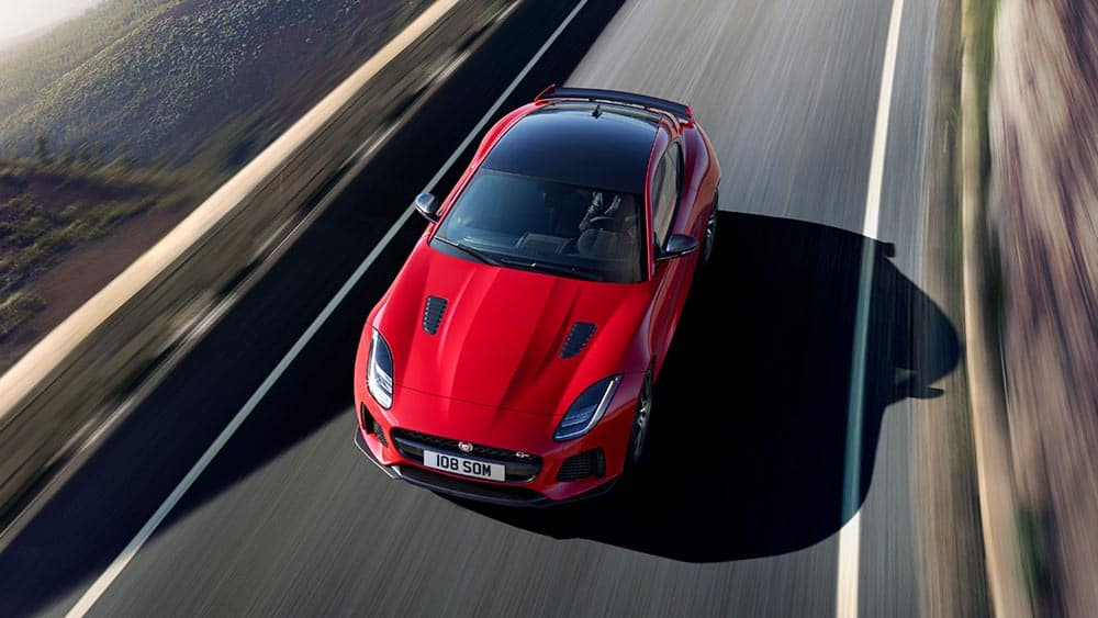 2019 Jaguar F-Type from top view