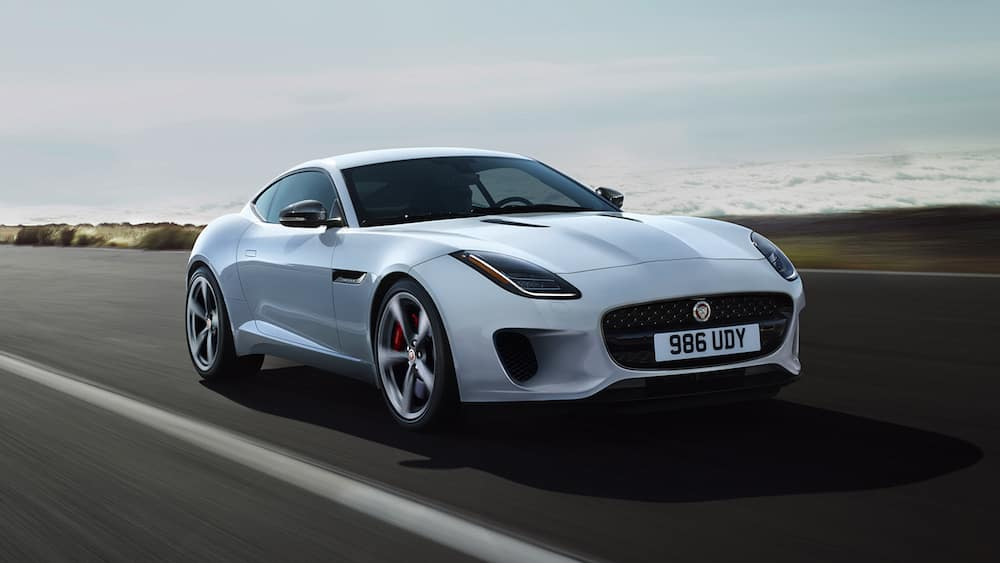 2019 jaguar f-type on road