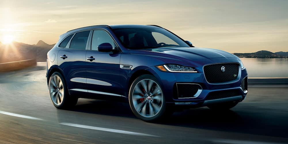 2019 f-pace driving on highway