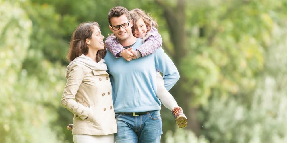family enjoying the outdoors
