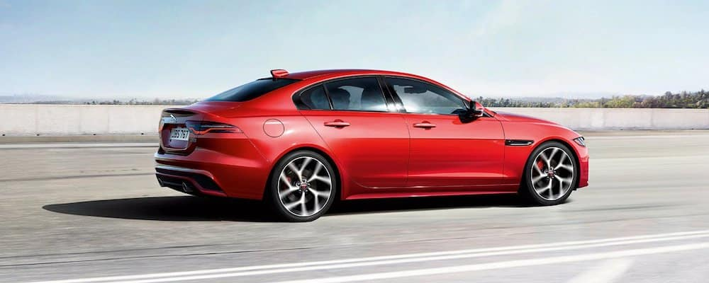 2020 Jaguar XE on Highway