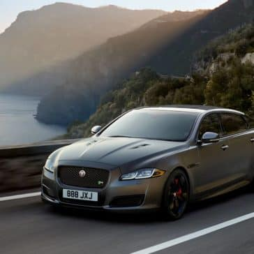 2019 Jaguar XJ Driving Along Ocean