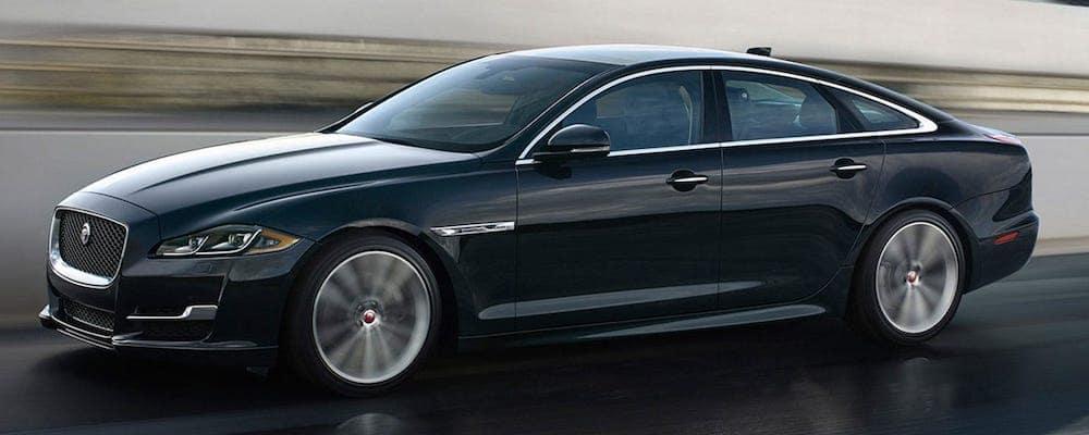 Black 2019 Jaguar XJ on Highway