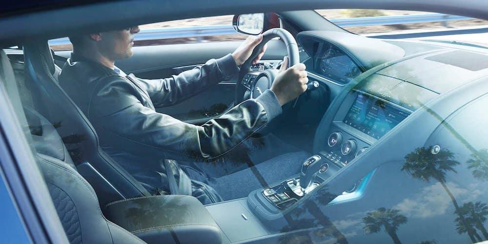 2021 Jaguar F-TYPE Interior Through Window