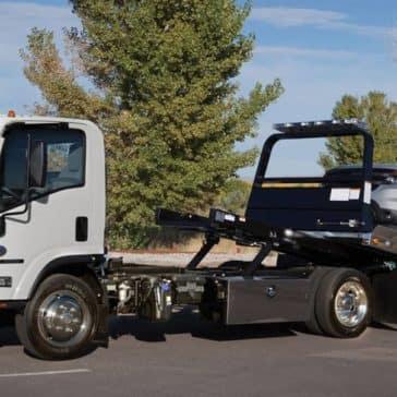 Isuzu NPR Diesel Flatbed Tow Truck