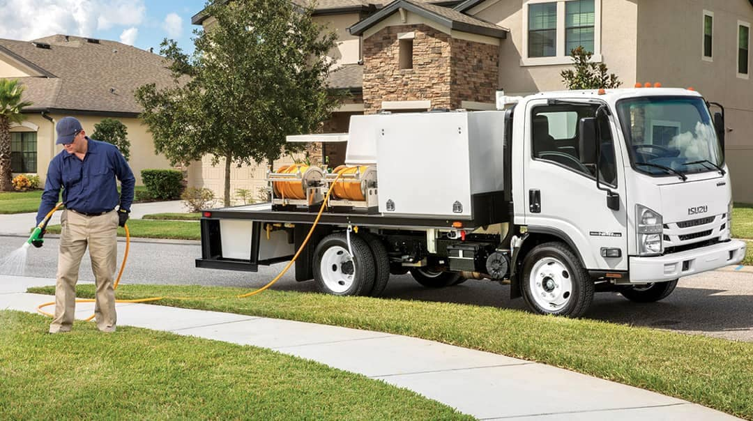 Isuzu NPR Gas Truck for landscaping