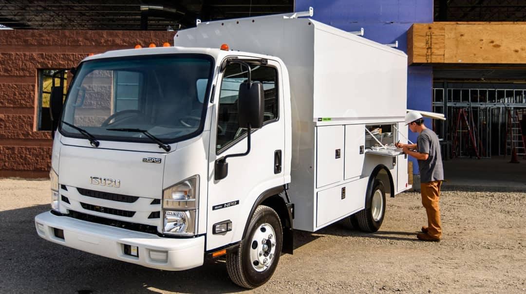 Isuzu NPR Gas Utility Truck