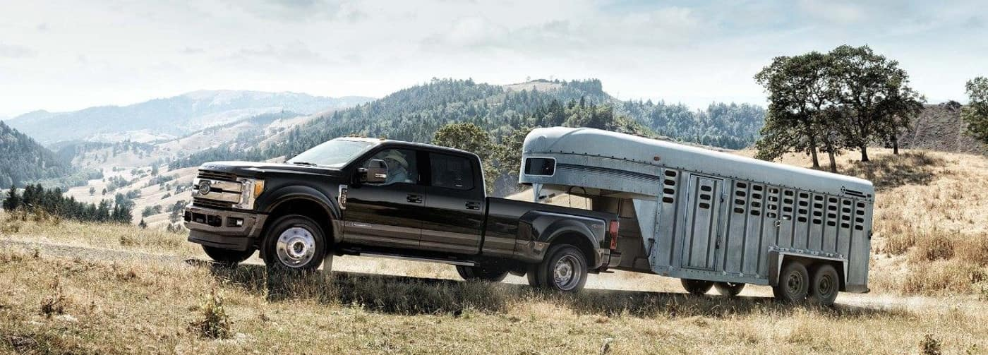 2018 Ford Super Duty with trailer attachment