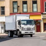 Isuzu FTR turning down side street