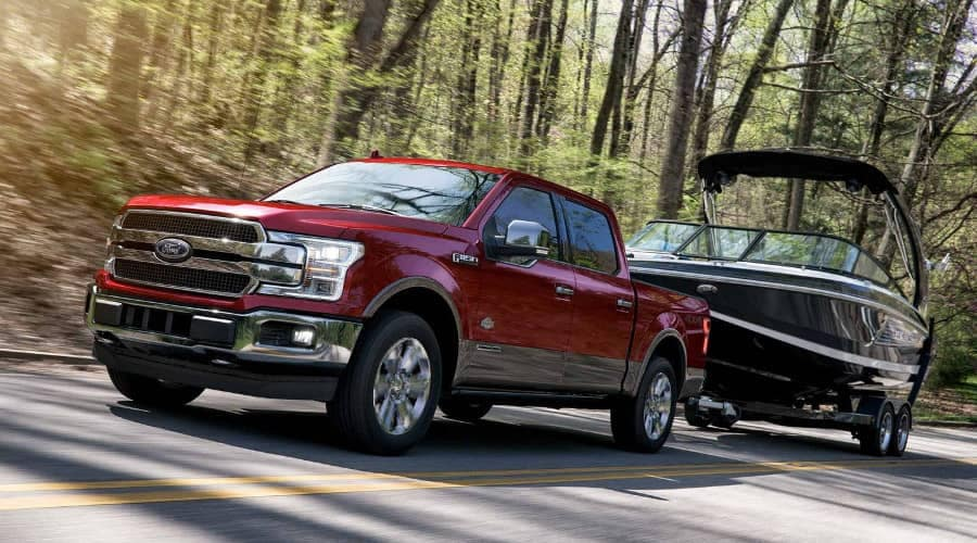 2019 Ford F-150 King Ranch tows a boat