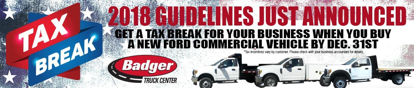 tax break badger truck center