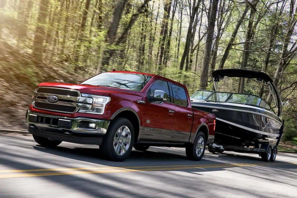 2019 Ford F-150 King Ranch Towing a Boat