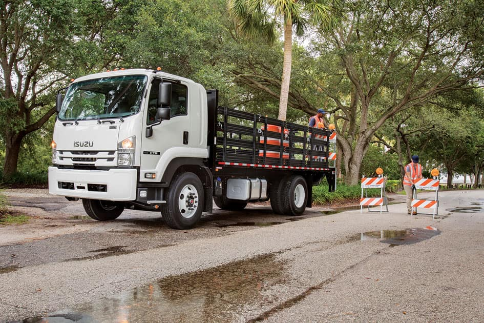 Isuzu F Series with stake sides