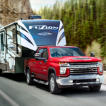 2020 Chevy Silverado HD towing a camper