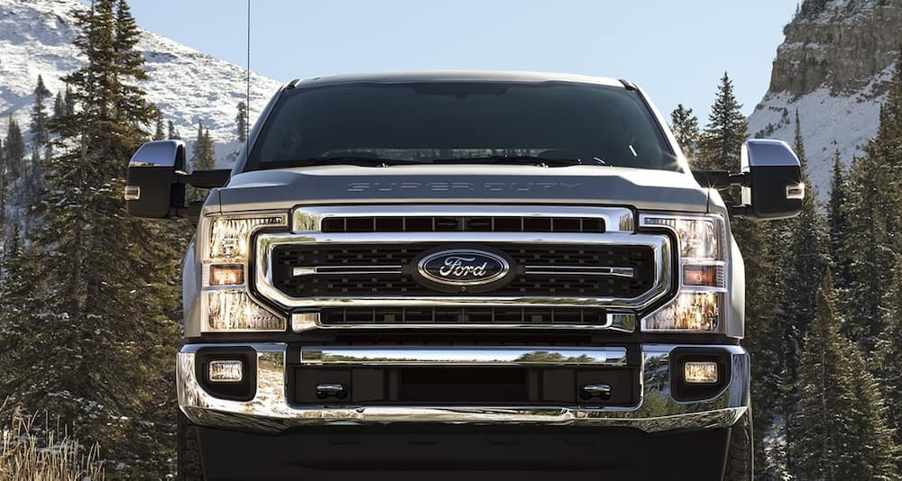 2020 Ford Super Duty from the front