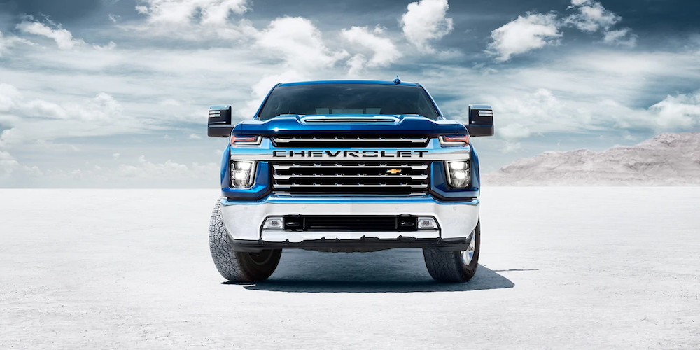 2020 Silverado HD from the front