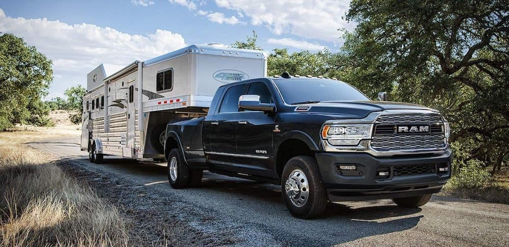 2019 Ram 2500 with a large trailer