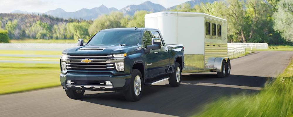 2020 Silverado HD towing a trailer