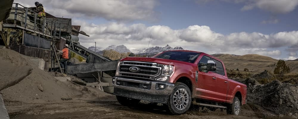 2020 Ford Super Duty on a job site