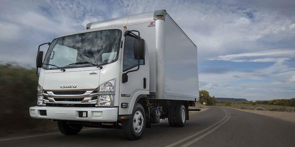 2020 Isuzu NQR diesel on the road