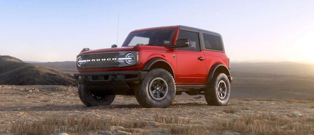 2021 Ford Bronco 2-Door in Race Red