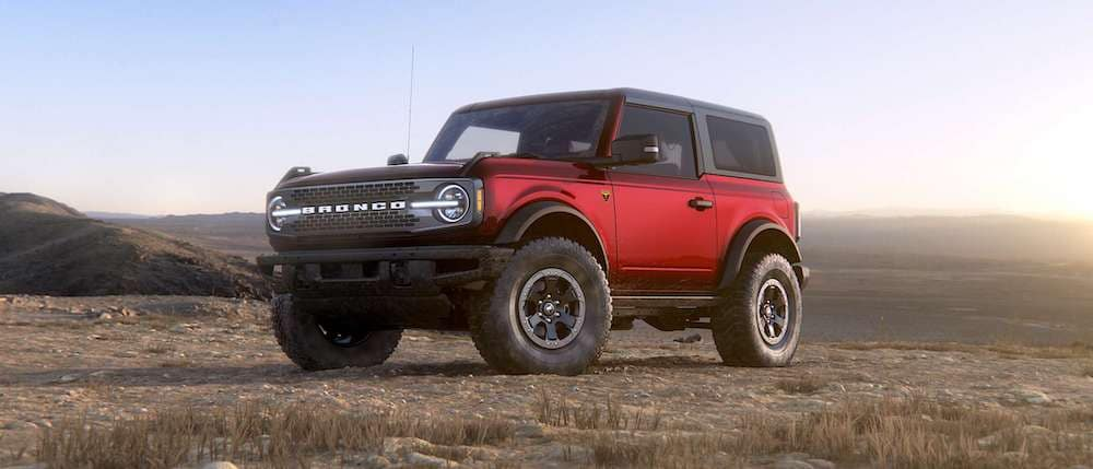 2021 Ford Bronco 2-Door in Rapid Red
