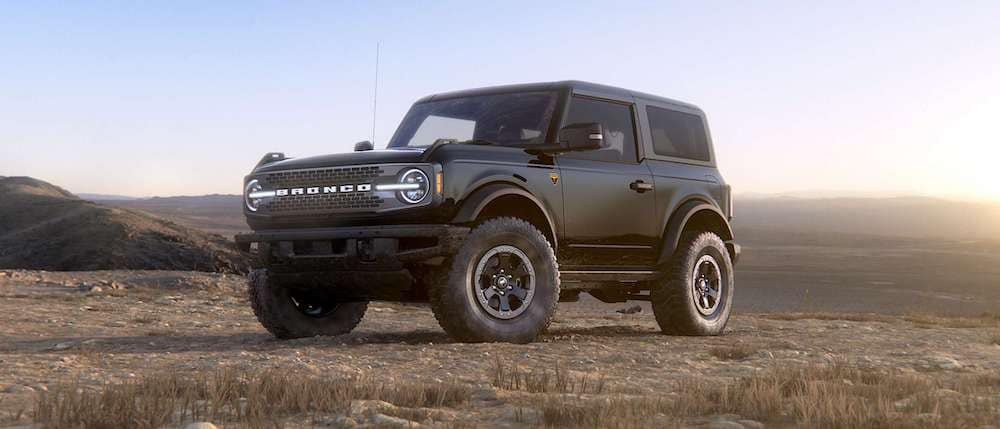2021 Ford Bronco 2-Door in Shadow Black