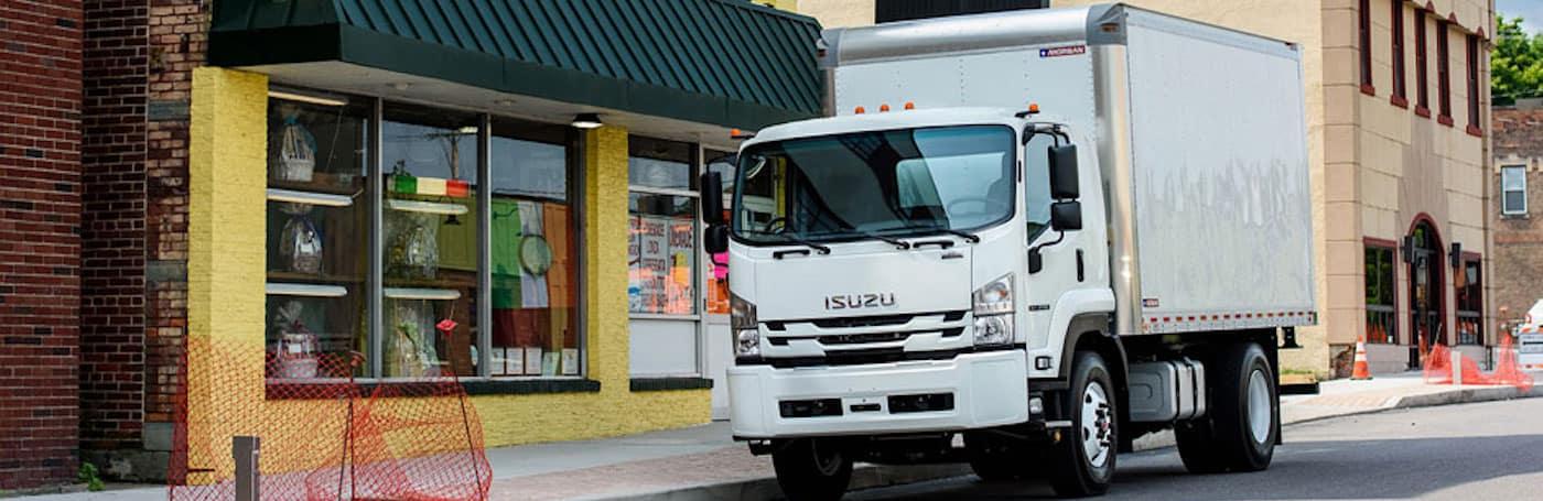 Isuzu F Series parked on the street