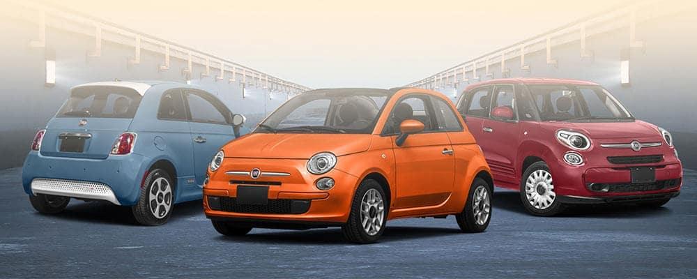 Three 2016 Fiat Models