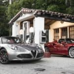 2017 Alfa Romeo 4c Spider Two Cars Parked