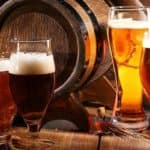 Beer Glasses and Barrel Brewery