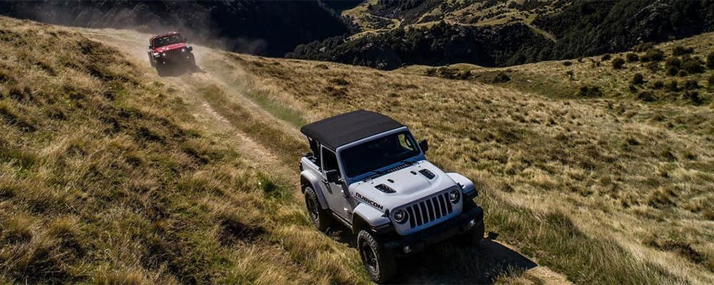 2018 Jeep Wrangler models off roading