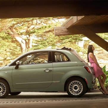 2017 Fiat 500 Cabrio Parked Woods