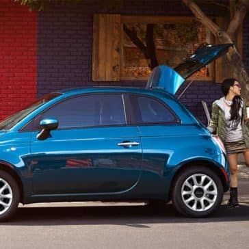 2017 Fiat 500 Hatch Open Parked