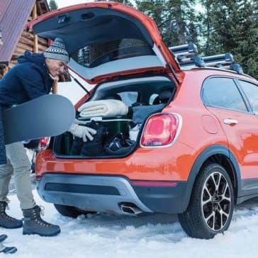 2017 Fiat 500X Snowboarding