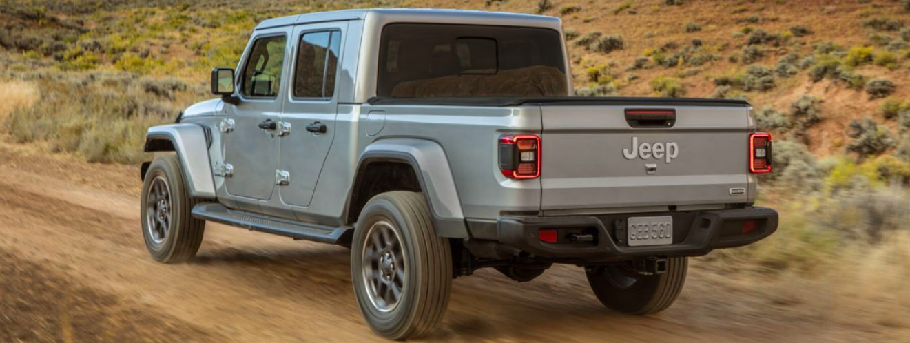 2020 Jeep Gladiator off-roading on a trail