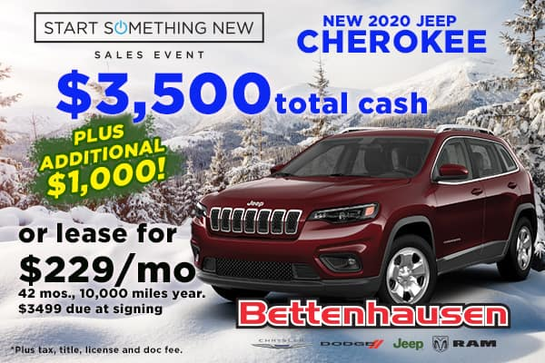 Upgrade into a New Cherokee Today!