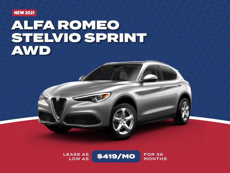 NEW 2021 ALFA ROMEO STELVIO SPRINT AWD