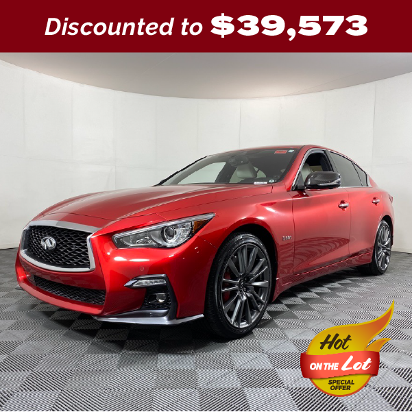 PRE-OWNED 2019 INFINITI Q50 RED SPORT 400 AWD 4D SEDAN