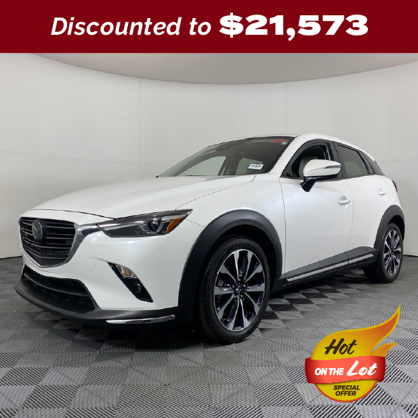 PRE-OWNED 2019 MAZDA CX-3 GRAND TOURING FWD 4D SPORT UTILITY