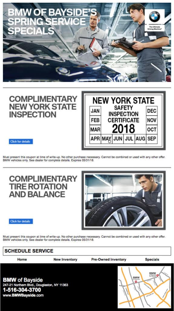 BMW Bayside Service >> Service Promotions Bmw Of Bayside