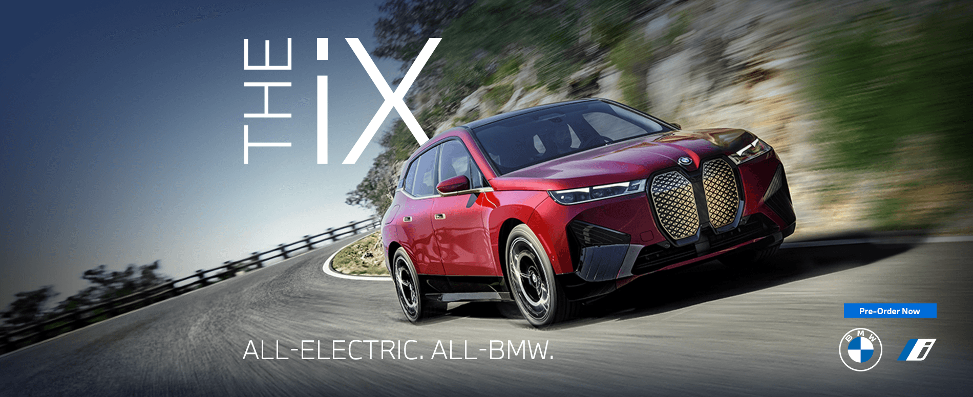 THE IX ALL ELECTRIC. ALL BMW. PRE ORDER NOW
