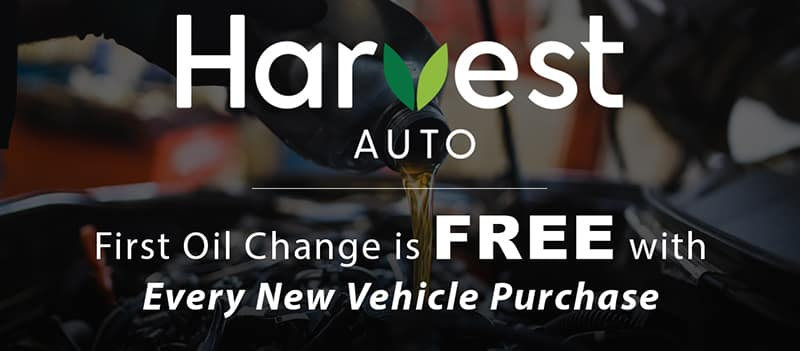 Harvest Auto Free Oil Changes with New Vehicle Purchase