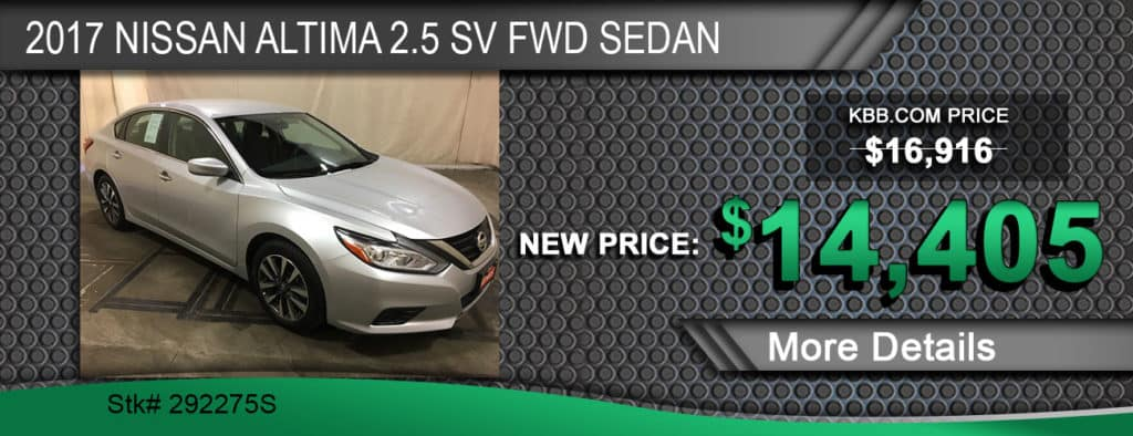 2017 Nissan Altima 2.5 SV FWD Sedan