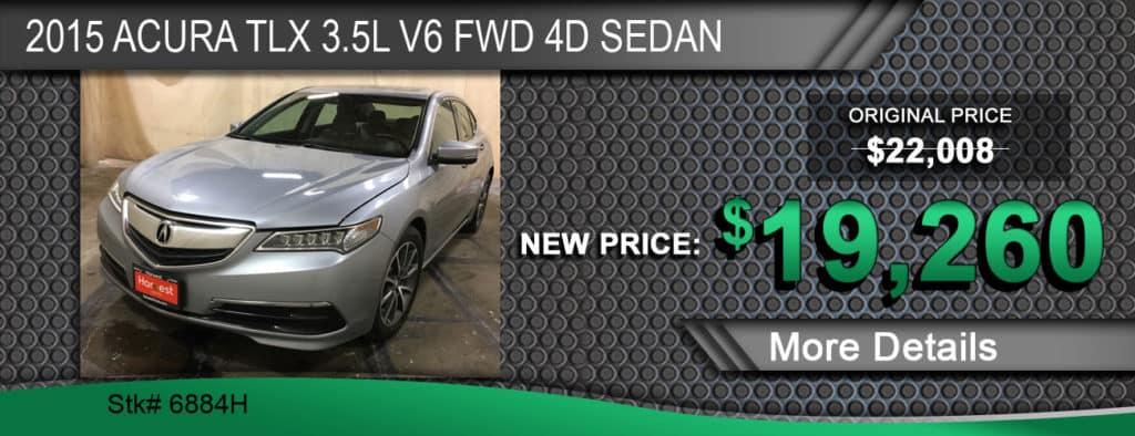 2015 Acura TLX 3.5L V6 FWD 4D Sedan
