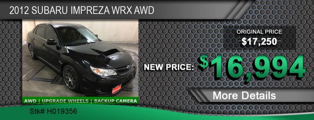 $16,994 Offer on 2012 Subaru Impreza WRX AWD