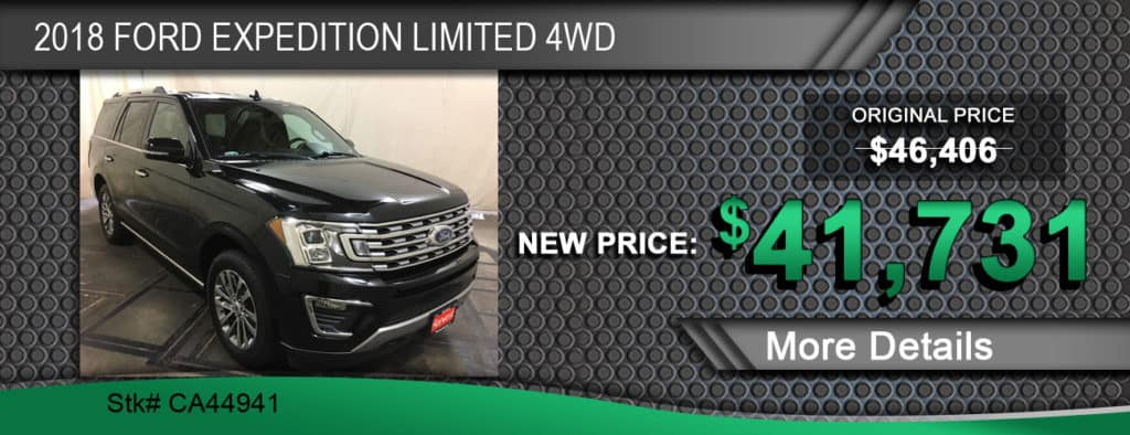 $41,731 Offer on 2018 Ford Expedition Limited 4WD