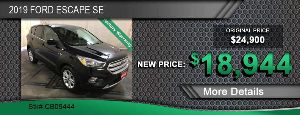 $18,944 Offer on a Used 2019 Ford Escape SE